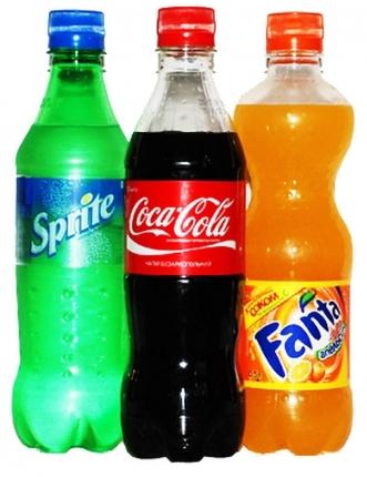 Coca-cola, Fanta, Sprite 1л